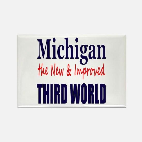 Michigan New 3rd World Rectangle Magnet