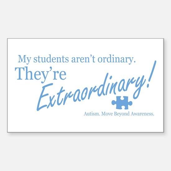 Extraordinary! (Students) Sticker (Rectangle)