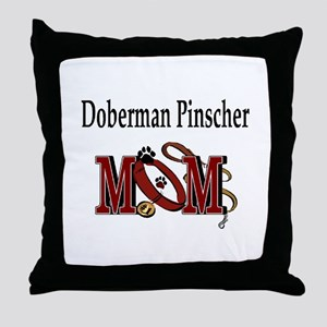 Doberman Pinscher Mom Throw Pillow