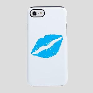 Blue Kiss Lips iPhone 7 Tough Case