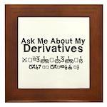 My Derivatives - Ask Me Framed Tile