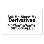 My Derivatives - Ask Me Sticker (Rectangle)
