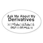 My Derivatives - Ask Me Sticker (Oval 10 pk)