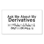 My Derivatives - Ask Me Sticker (Rectangle 50 pk)