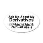 My Derivatives - Ask Me 38.5 x 24.5 Oval Wall Peel