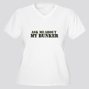 My Bunker - Ask Me Women's Plus Size V-Neck T-Shir