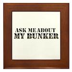 My Bunker - Ask Me Framed Tile