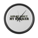 My Bunker - Ask Me Large Wall Clock