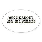 My Bunker - Ask Me Sticker (Oval 10 pk)