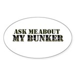 My Bunker - Ask Me Sticker (Oval 50 pk)