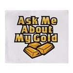 Gold Investing - Ask Me Throw Blanket