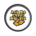Gold Investing - Ask Me Wall Clock