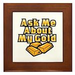 Gold Investing - Ask Me Framed Tile