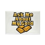 Gold Investing - Ask Me Rectangle Magnet