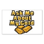 Gold Investing - Ask Me Sticker (Rectangle)