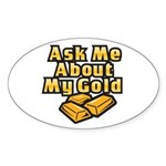 Gold Investing - Ask Me Sticker (Oval 50 pk)