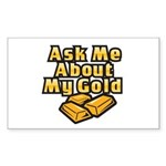Gold Investing - Ask Me Sticker (Rectangle 10 pk)