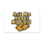 Gold Investing - Ask Me 22x14 Wall Peel