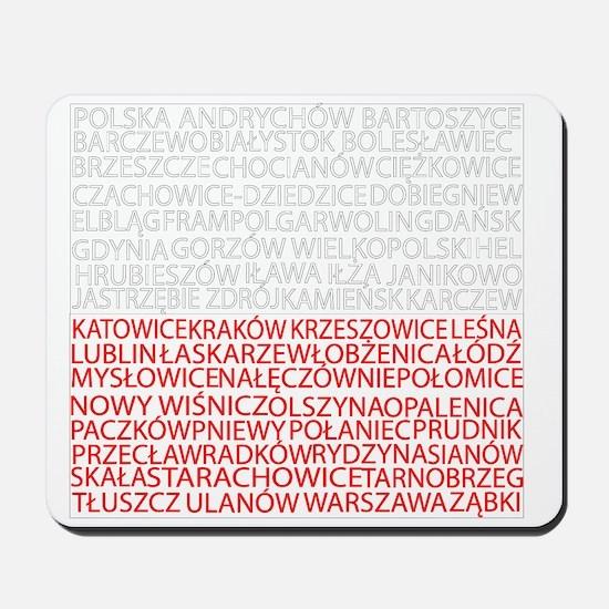Polish Cities Flag Mousepad