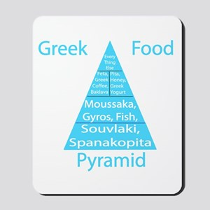 Greek Food Pyramid Mousepad