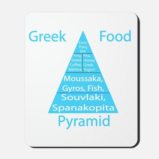 Greek Food Pyramid Mousepad