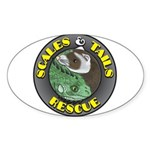 Scales and Tails Logo Oval Sticker