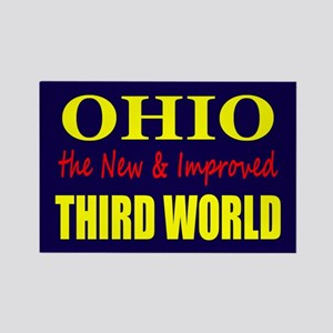 Ohio New 3rd World Rectangle Magnet