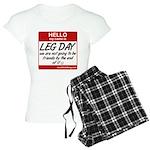 Hello my name is .... Leg day Women's Light Pajama
