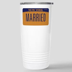 New York Marriage Equal Stainless Steel Travel Mug