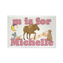 M is for Michelle Rectangle Magnet