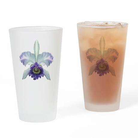 Colorful Orchids Drinking Glass