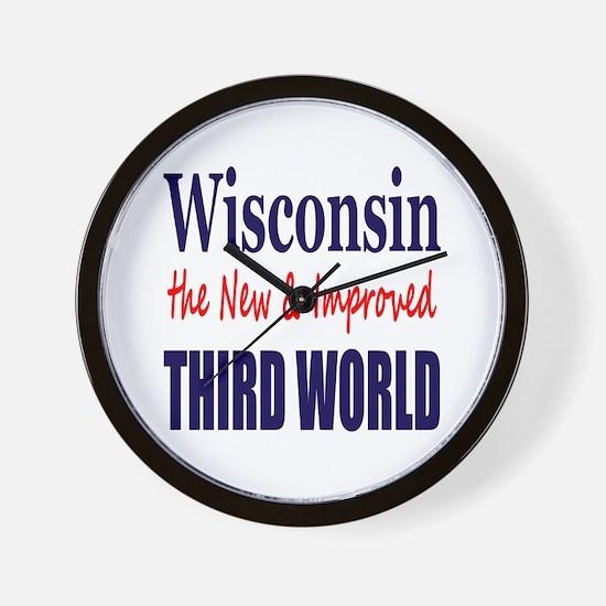 Wisconsin New 3rd World Wall Clock
