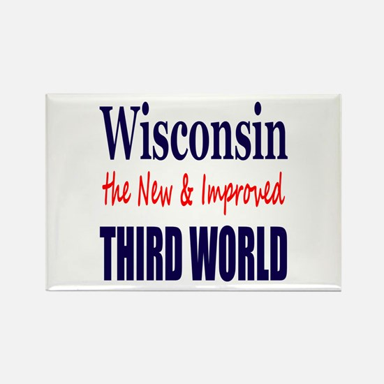 Wisconsin New 3rd World Rectangle Magnet