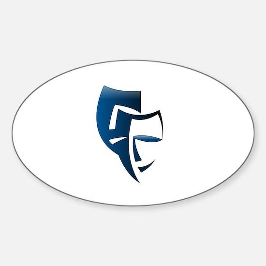 Bipolar Faces Sticker (Oval)
