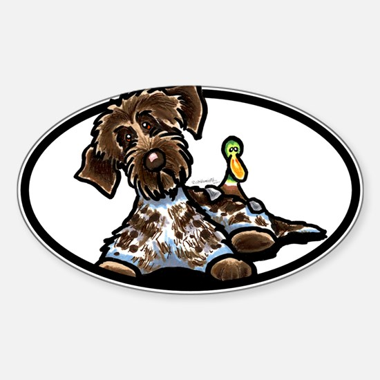 Funny Pointing Griffon Sticker (Oval)