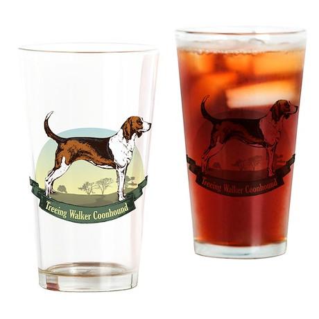 Treeing Walker Coonhound: Ban Pint Glass