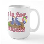 N is for Nicole Large Mug