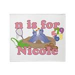 N is for Nicole Throw Blanket