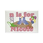 N is for Nicole Rectangle Magnet (10 pack)
