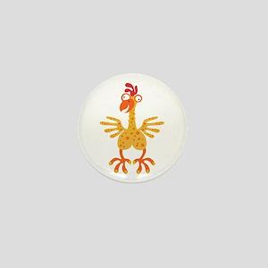 Loony Chicken Mini Button
