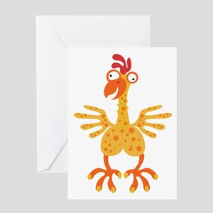 Loony Chicken Greeting Card
