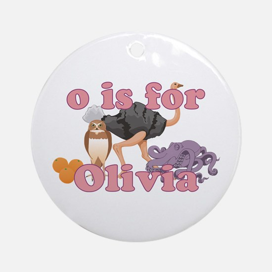 O is for Olivia Ornament (Round)