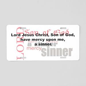 Jesus Prayer Aluminum License Plate