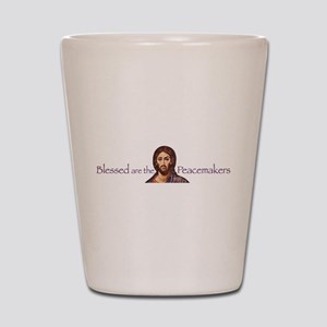 Blessed Peacemakers Shot Glass