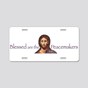 Blessed Peacemakers Aluminum License Plate