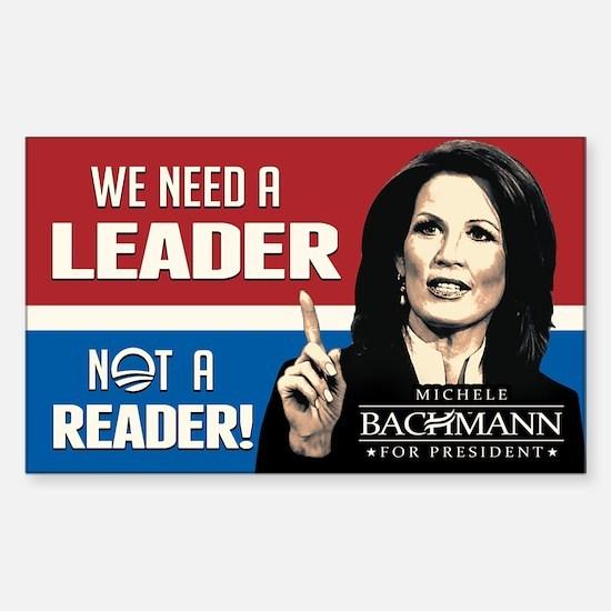 Bachmann - Leader not Reader Sticker (Rectangle)