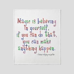 Magic Believe Throw Blanket