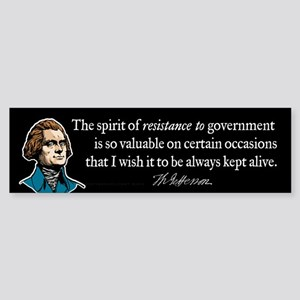 Jefferson Resistance Quote Sticker (Bumper)