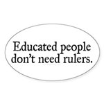 Educated People Sticker (Oval 10 pk)
