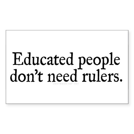 Educated People Sticker (Rectangle)